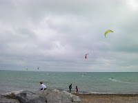 kite surfing on goring by sea beach