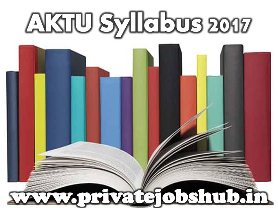 aktu syllabus 2017 download mba mca b tech bfa b pharm courses