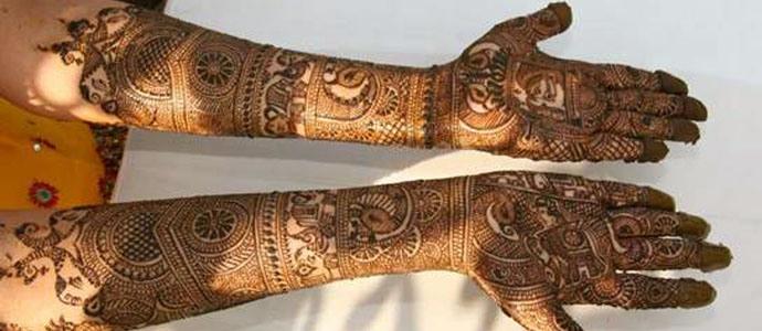 Rajasthani mehndi Designs for Wedding