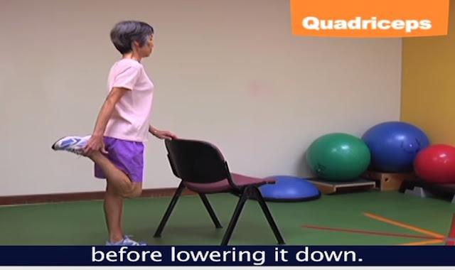 Quadrisep exercise tahanan satu