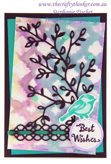 #thecraftythinker #stampitinkitbloghop #petalpalette #florentinedie #cardmakingtechniques #cardmaking , Petal Palette, Florentine Thinlit, making a stencil, Ink It Stamp It Blog Hop, Selective Stamping, Stampin' Up Australia Demonstrator, Stephanie Fischer, Sydney NSW