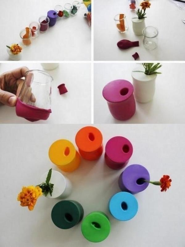 vas bunga pendek pun bisa cantik dan rapi dengan balon