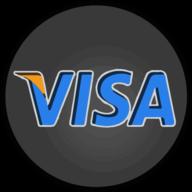 visa glowing icon