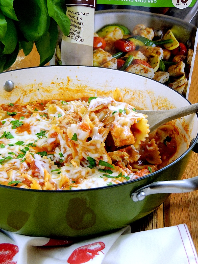 One Pot Cheesy Italian Chicken and Pasta from www.bobbiskozykitchen.com