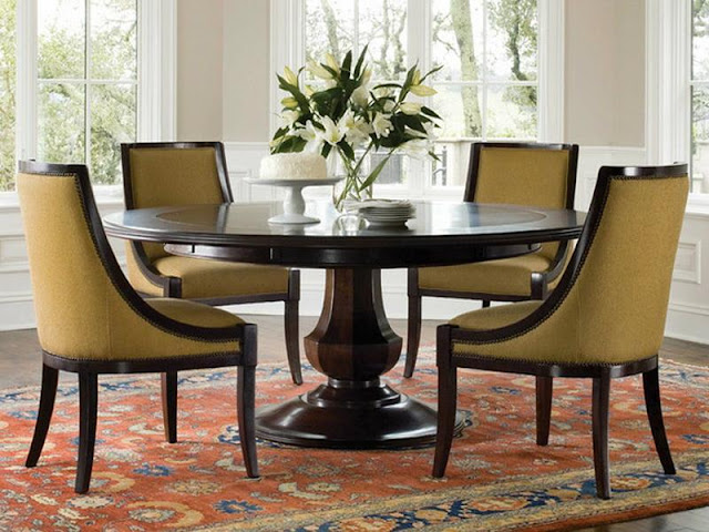 Modern Room with Round Dining Tables Modern Room with Round Dining Tables captivating brown round modern wooden round dining room table for 6 stained design