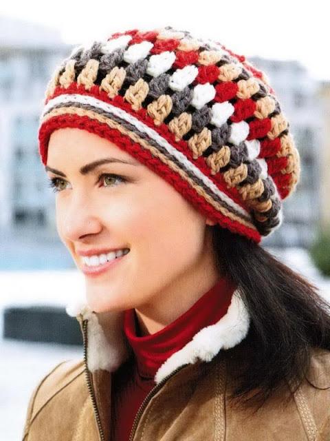 crochet hat, woman, easy
