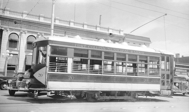 Trolley in Fort Collins, Colorado, 10 July 1941 worldwartwo.filminspector.com