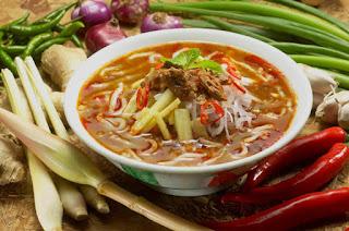 Makanan Khas Malaysia - Penang Asam Laksa