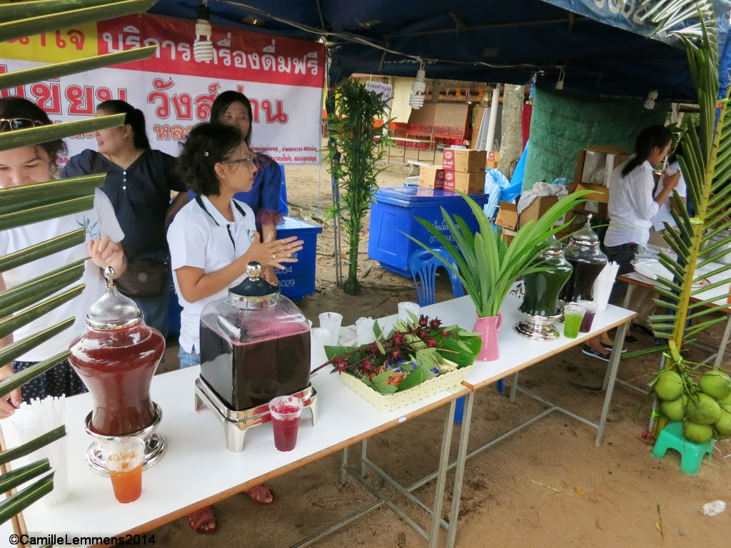 Herbal juices at Wat Bo Phuttaram