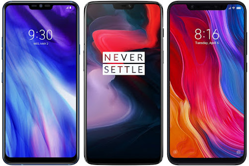 LG G7 ThinQ vs OnePlus 6 64 GB vs Xiaomi Mi 8 128G