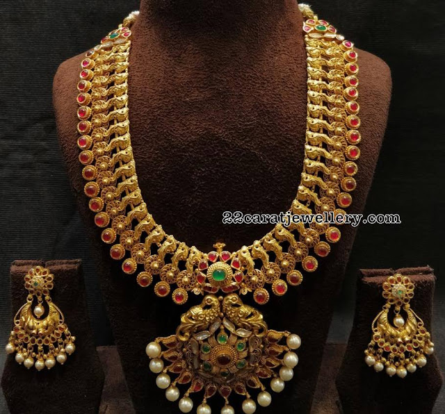 Broad Antique Haram with Pota Rubies