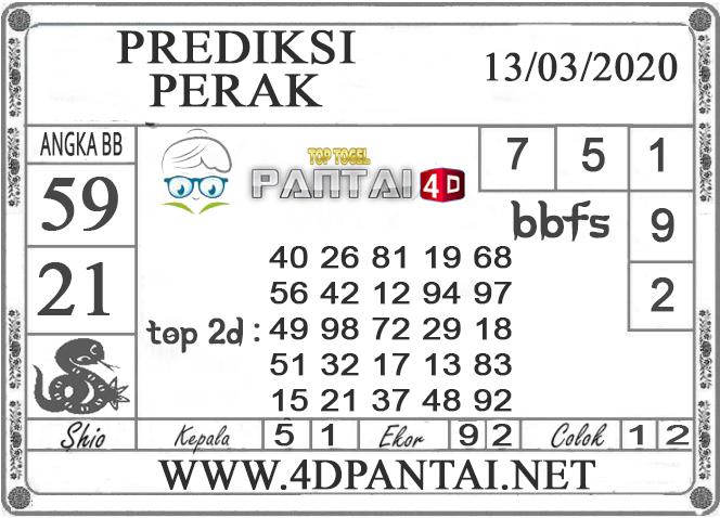 PREDIKSI TOGEL PERAK PANTAI4D 13 MARET 2020