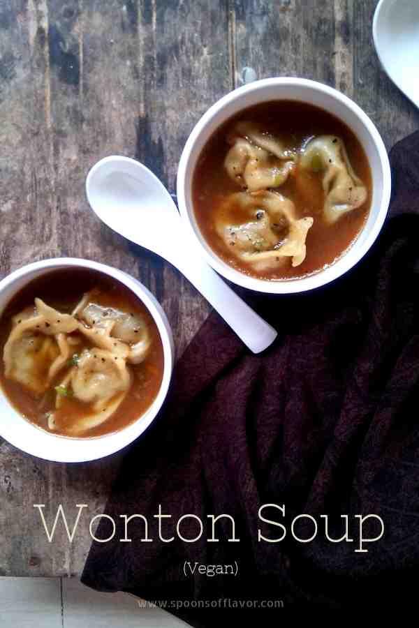 Vegan wonton soup recipe