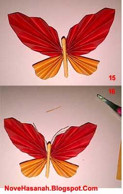 Nove Hasanah Cara Membuat Hiasan Dinding Kupu Kupu Kertas