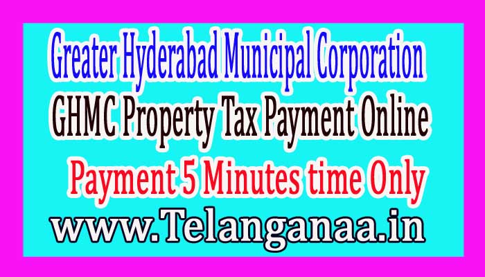 GHMC Property Tax Payment Online in 5 Minutes Only