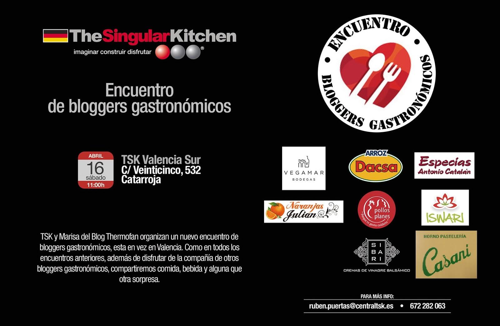 Marronglac encuentro de bloggers gastron micos en - Singular kitchen valencia ...