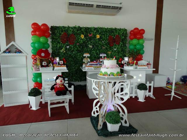 Decoração Jardim Encantado – Mesa Temática De Aniversário Infantil ~ Mesa Simples Jardim Encantado
