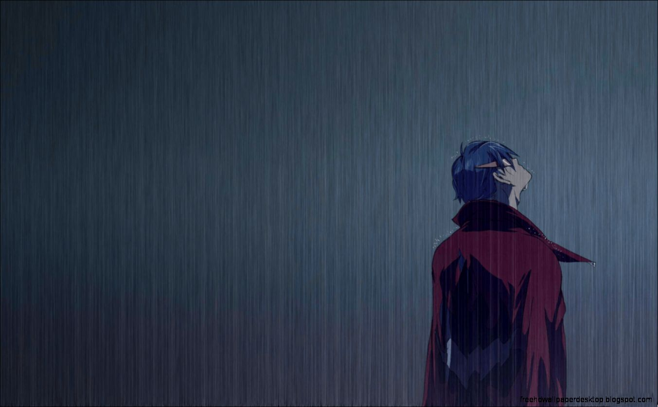 Anime emo boy in rain free high definition wallpapers - Anime rain wallpaper ...