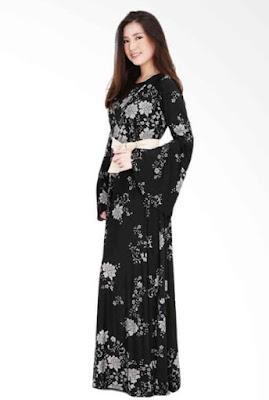 Model Gamis Batik Pesta untuk wanita