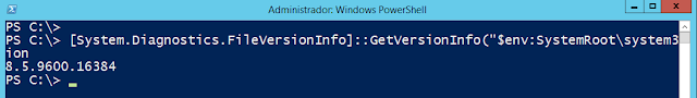 Windows: IIS cómo saber la versión instalada