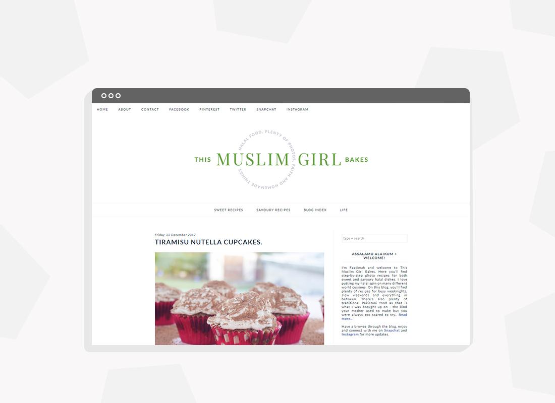 Muslim Food blog branding and blog development on Blogger platform.