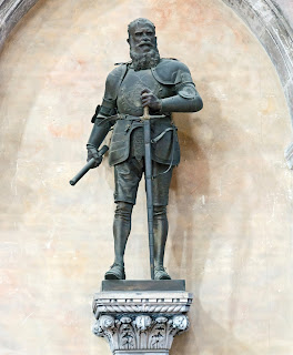 The monument to Sebastiano Venier outside the Basilica of SS Giovanni e Paolo in Venice
