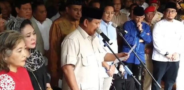 Prabowo Sandi Resmi Tolak Hasil Rekapitulasi Suara Pilpres 2019