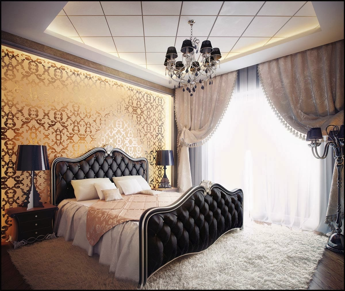 Luxurious Gold Bedroom Design