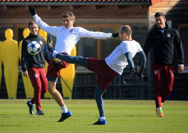 Bayer de Munique se prepara para primeiro duelo contra o Arsenal pelas oitavas da Liga dos Campeões (Foto: Divulgação)