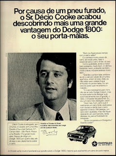 Dodge Chrysler; brazilian advertising cars in the 70. os anos 70. história da década de 70; Brazil in the 70s; propaganda carros anos 70; Oswaldo Hernandez;