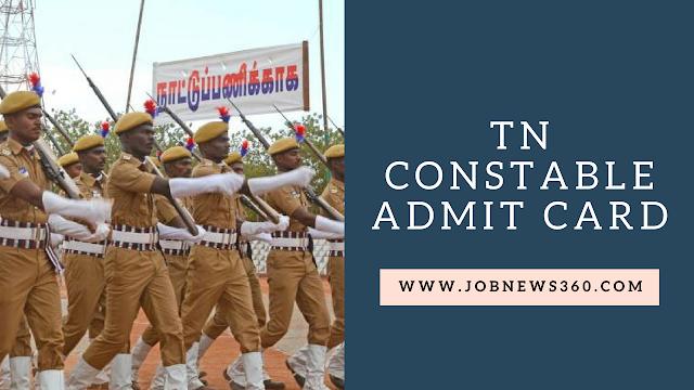 Tamil Nadu Police Constables Admit Card Published @ tnusrbonline.org