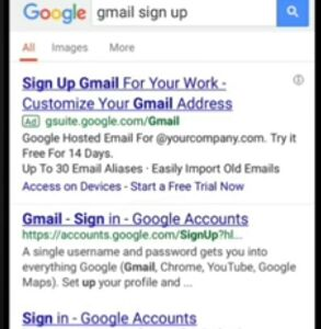 Email id signup