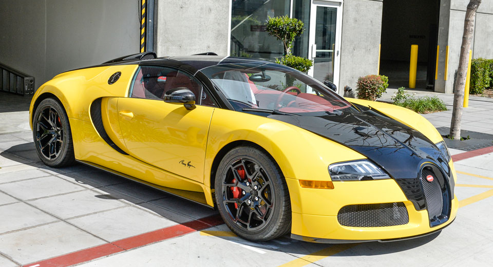 Bugatti Veyron Grand Sport Puts On Its Bumblebee Suit In L.A