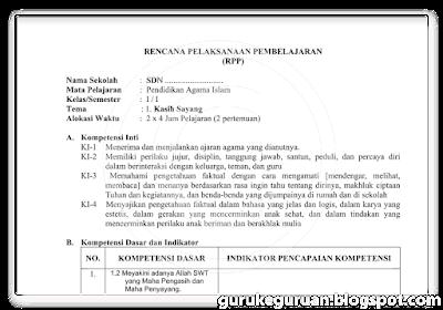 RPP PAI SD Kelas1-6 Kurikulum 2013 dan KTSP 2006