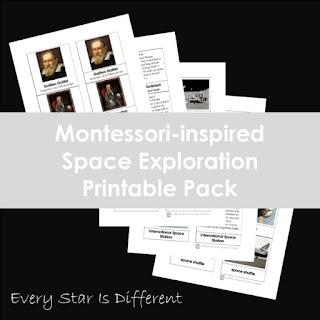 Montessori-inspired Space Exploration Printable Pack