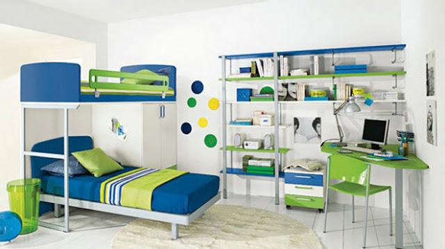 комната для мальчика с двух ярусной кроватью