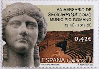 ANIVERSARIO DE SEGOBRIGA COMO MUNICIPIO ROMANO. 15 Ac - 2015 Dc