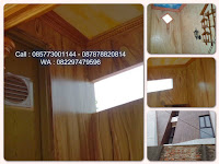 Cat Wash Dinding Motif Kayu