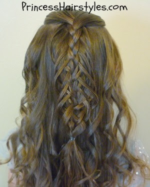 pulled edge braid with curls