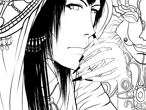 Click The Kisuke Anime Boy Character By Gabriela Gogonea Coloring Pages
