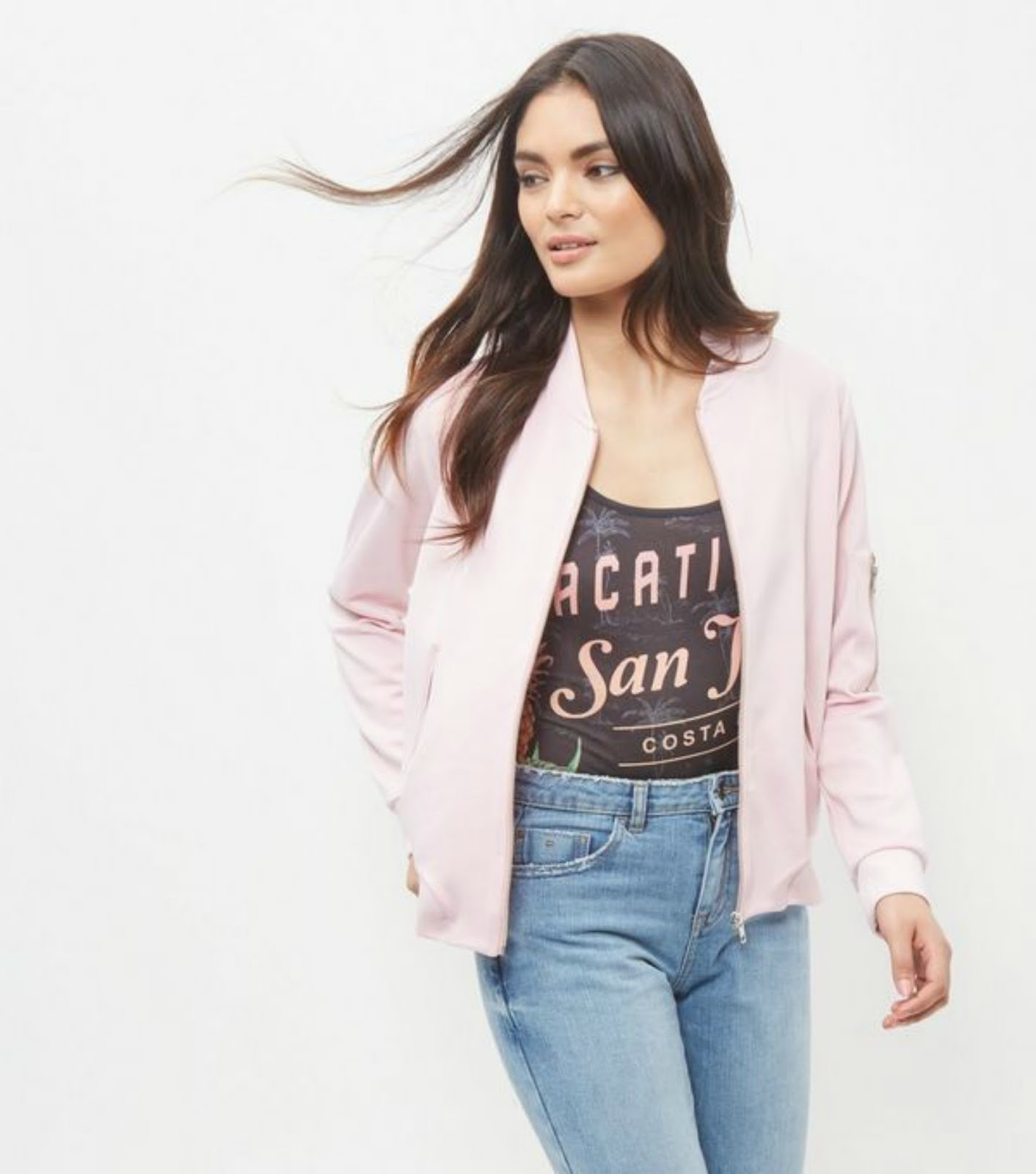 http://www.newlook.com/shop/womens/jackets-and-coats/shell-pink-scuba-bomber-jacket_376703872