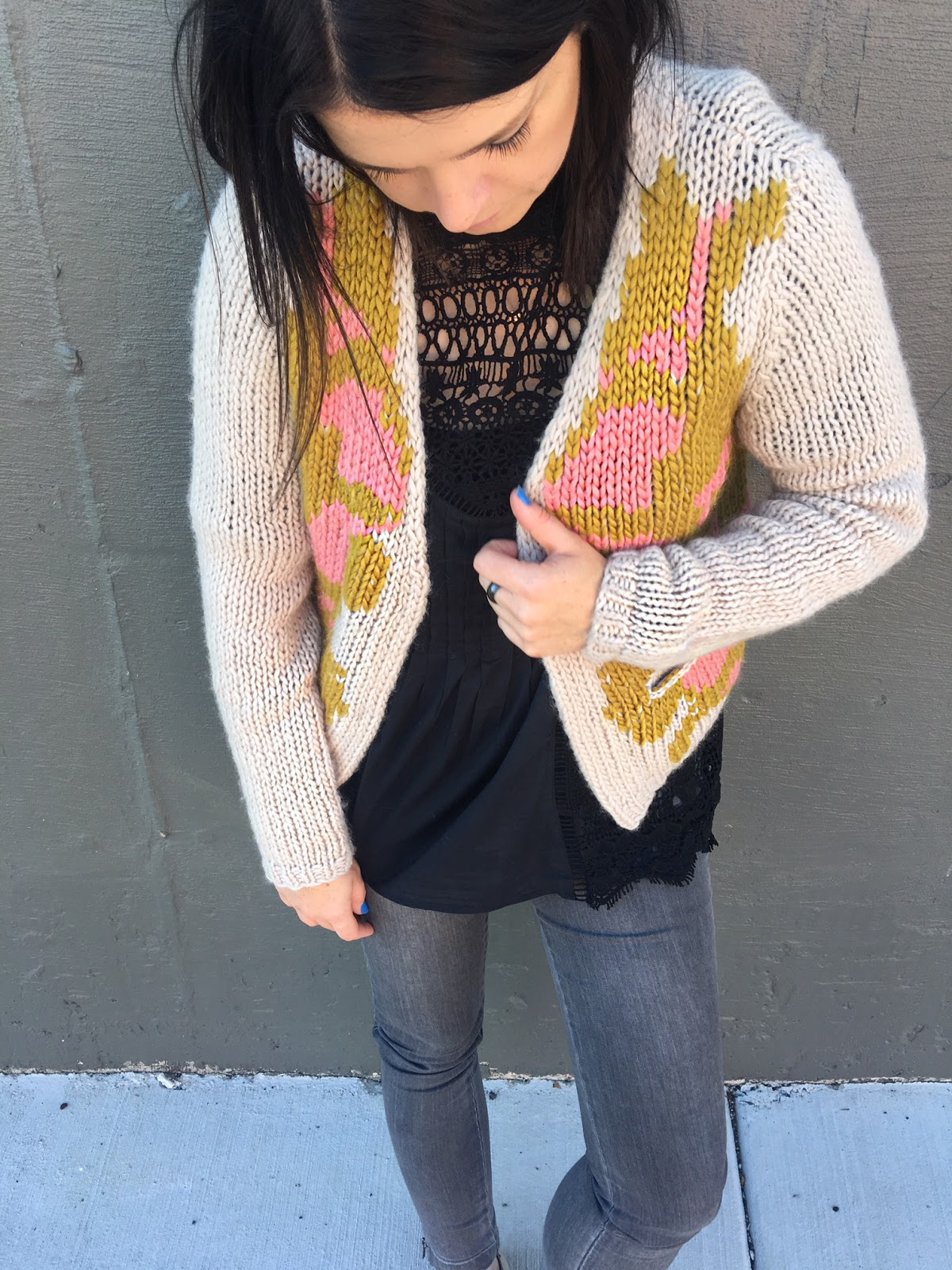 My favorite lace blouse & cardi