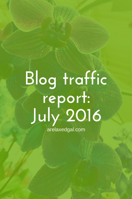 July 2016 blog traffic report | arelaxedgal.com