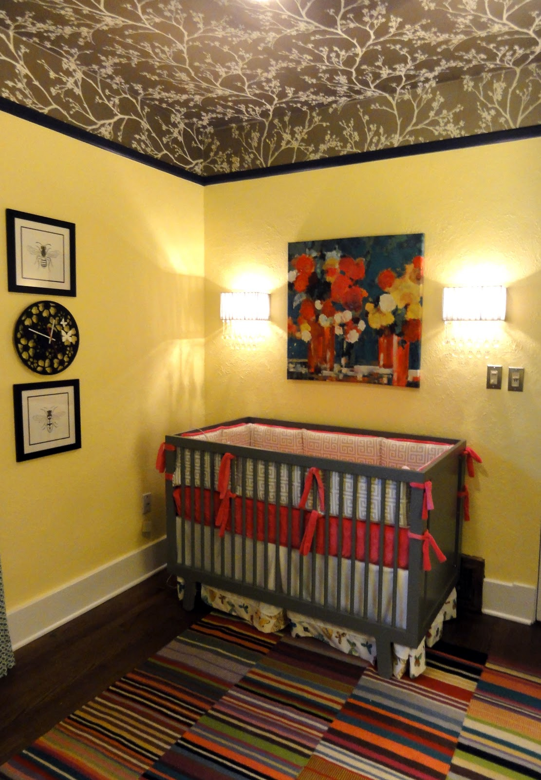 Girl Nursery With Wallpaper Hudson Baby Design Our Quot Madam Butterfly Quot Nursery