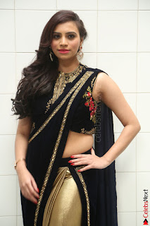 Priyanka Ramana in Beautiful Designer Black Saree At We Craft Elegance Expo Launch 022.JPG