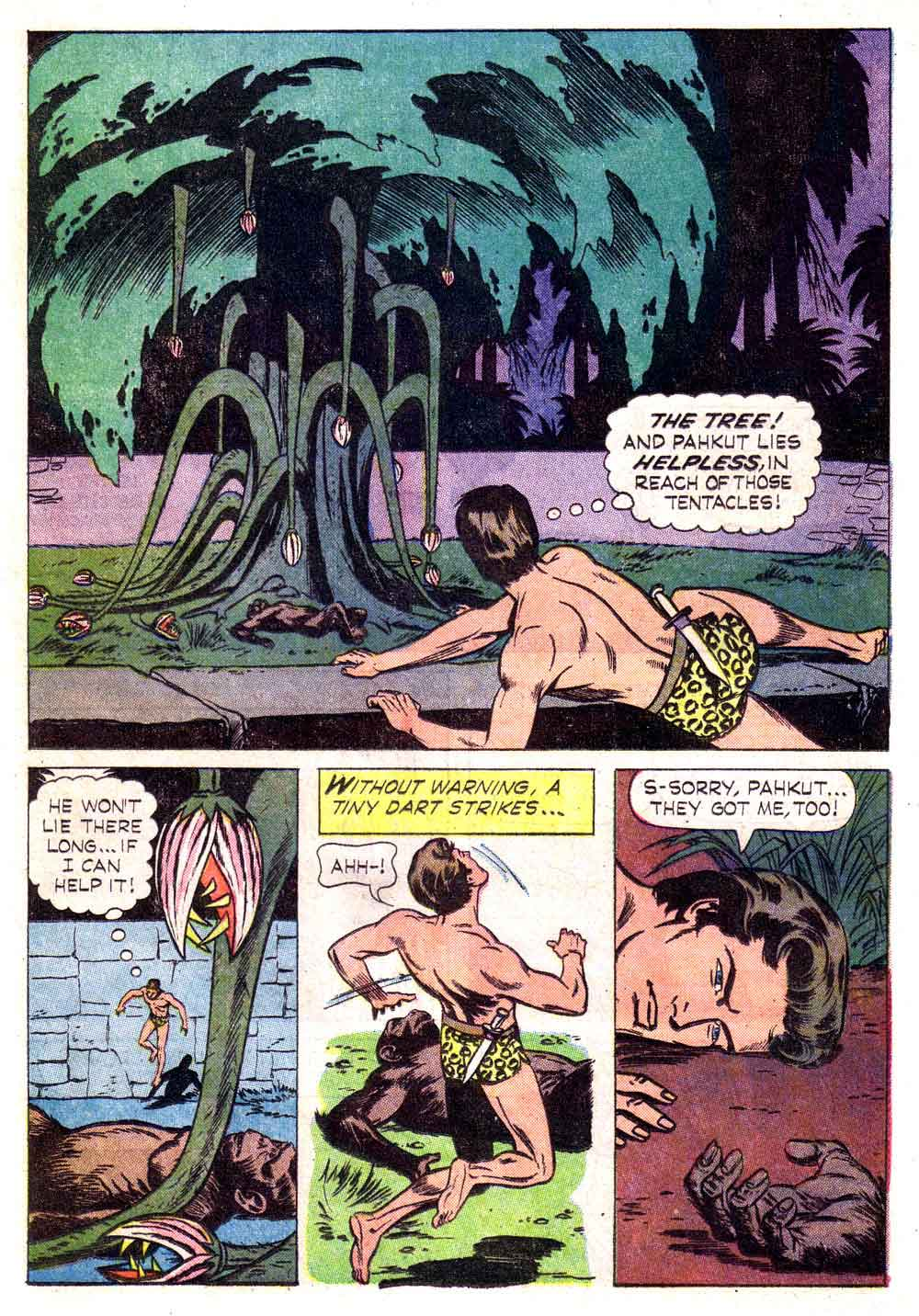 Korak Son of Tarzan v1 #5 gold key silver age 1960s comic book page art by Russ Manning