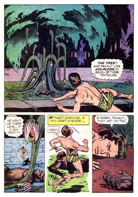 Korak Son of Tarzan v1 #5 gold key silver age 1960s comic book page art by Russ Manning