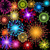 Brigthly colorfly vector fireworks