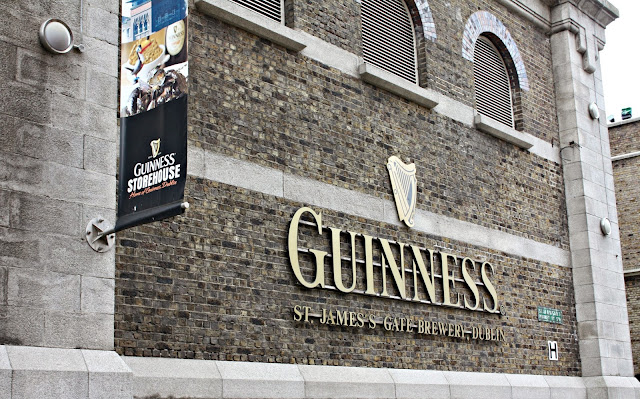 Guinness Storehouse in Dublin, Ireland building logo