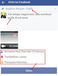 cara upload video ke fb